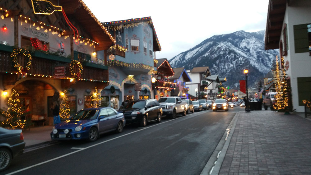 Leavenworth during Christmas